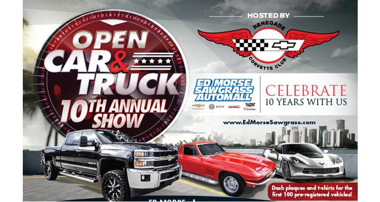 Th Annual Open Car And Truck Show Car Show Radar - Ed morse sawgrass car show