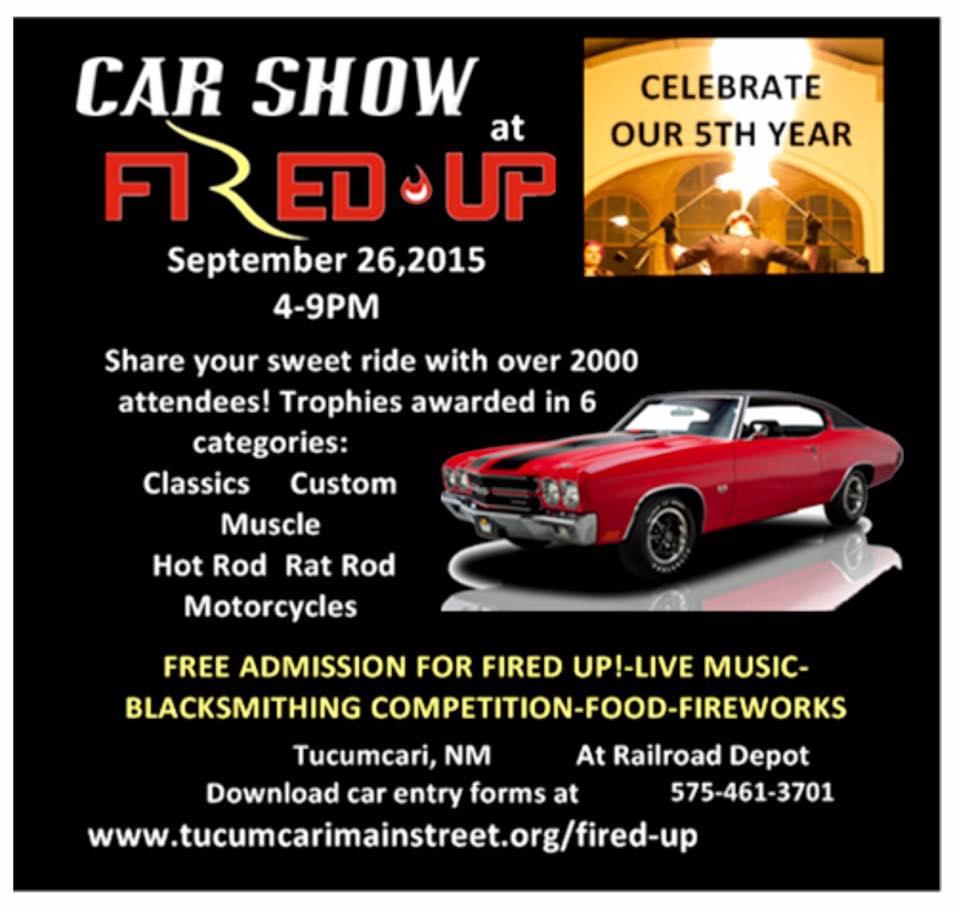 5th Annual Tucumcari Fired Up Car Show