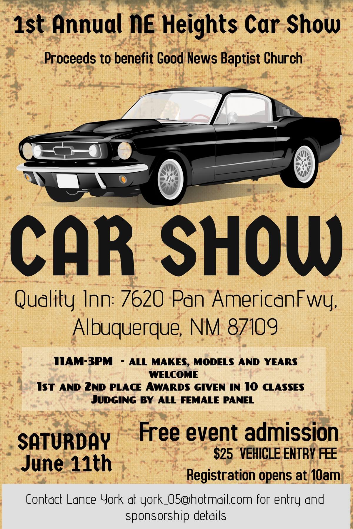 St Annual NE Heights Car Show Car Show Radar - Car show albuquerque