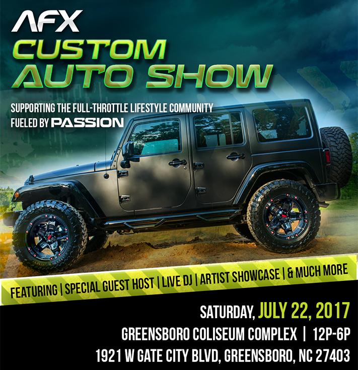 AFX Custom Auto Show Car Show Radar - Car show greensboro