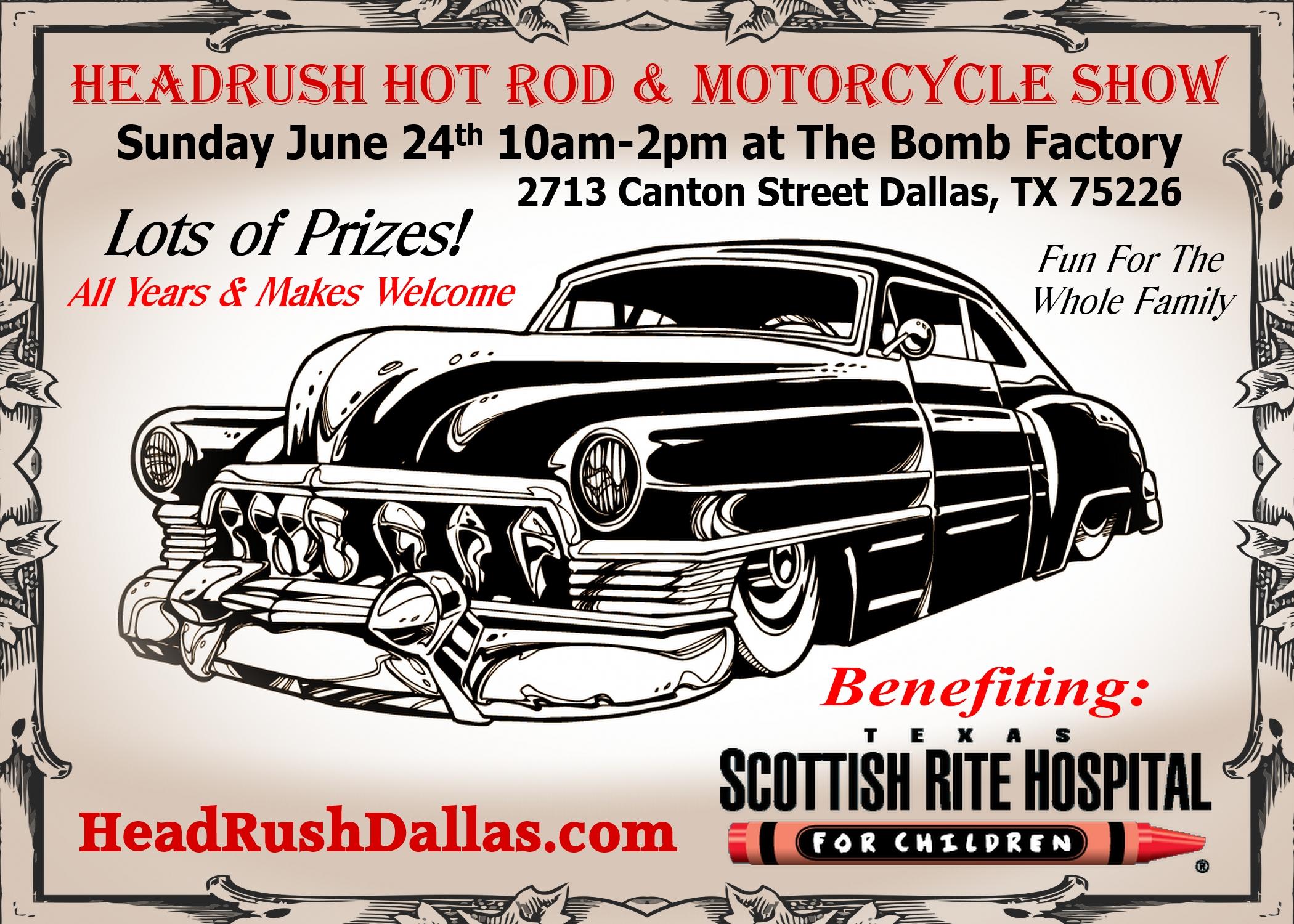 Th Annual HeadRush Hot Rod Motorcycle Show Car Show Radar - Dallas car show 2018