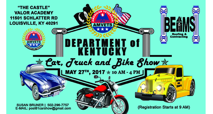 AMVETS Department Of Kentucky Car Truck And Bike Show Car Show Radar - Car show louisville ky