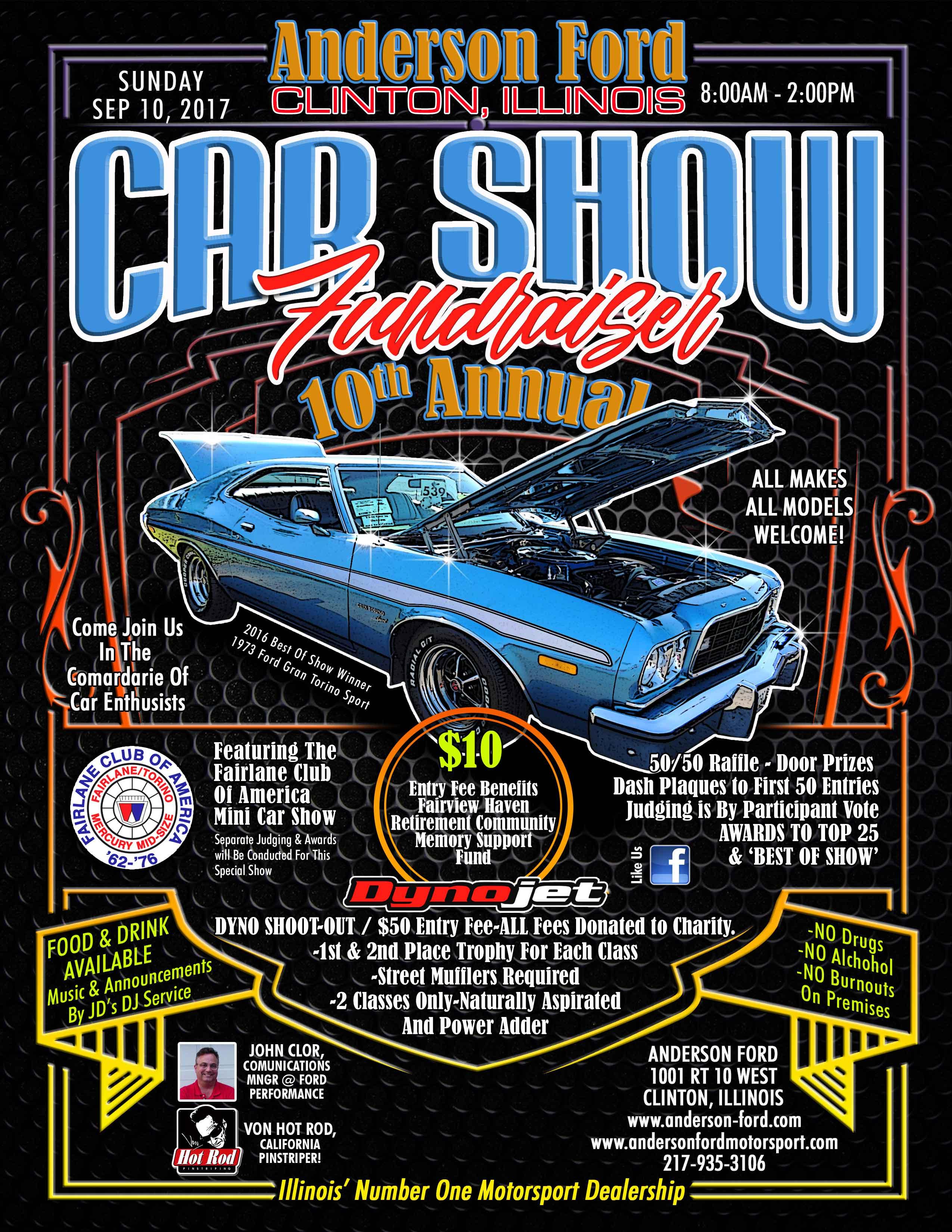Mustang Club Of America >> Anderson Ford 10th Annual Car Show | Car Show Radar